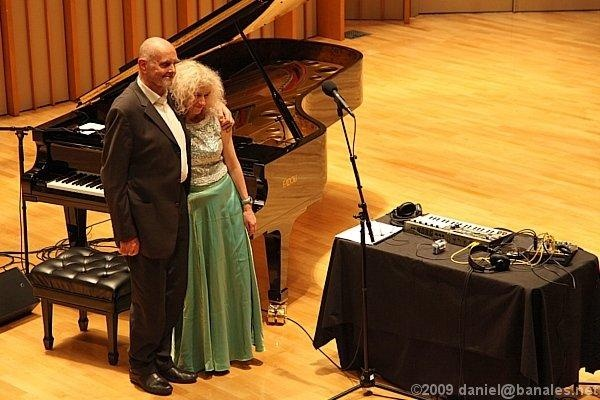 Alessandra Celletti e Hans Joachim Roedelius (Los Angeles)