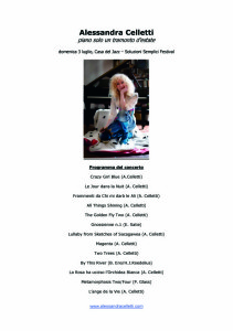 Alessandra Celletti suona l'Ecopianofono