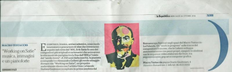 La Repubblica - 26 Ottobre 2016